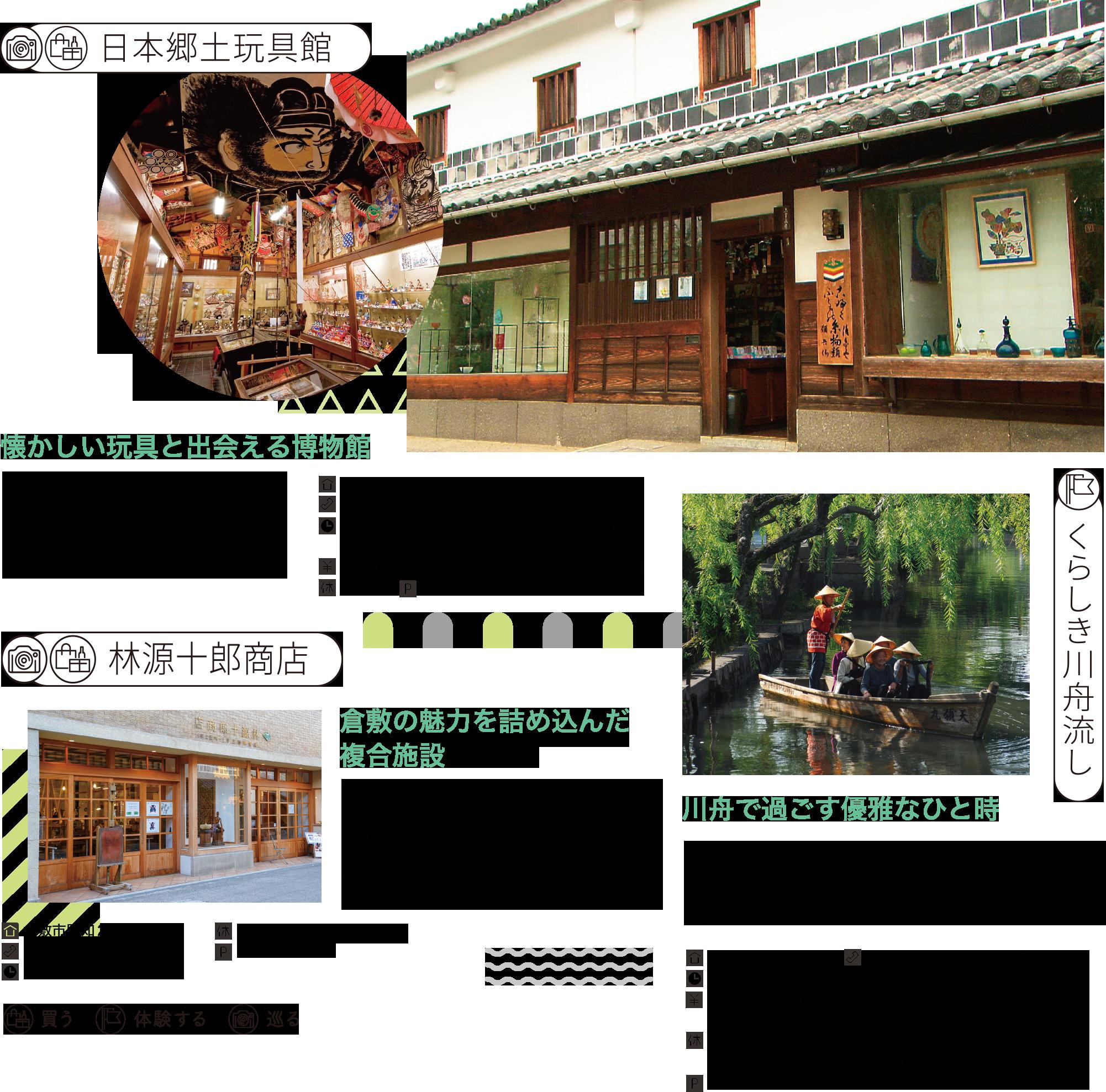 オルゴールミュゼ・メタセコイア 倉敷貯金箱博物館 ベティスミス・ジーンズミュージアム 倉敷刀剣博物館