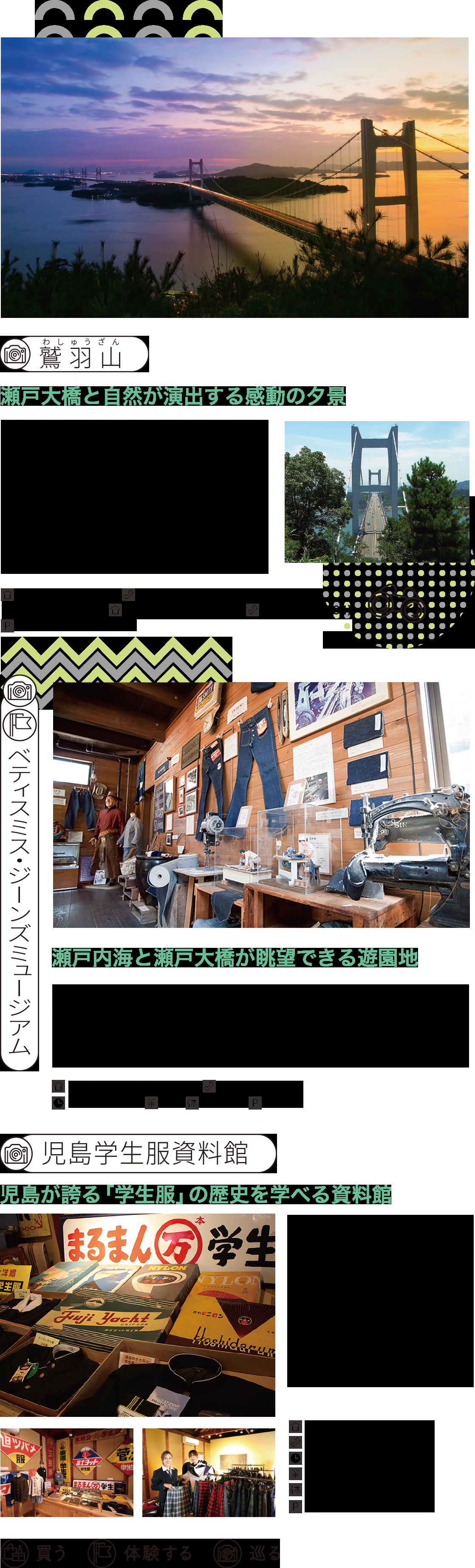 鷲羽山 六口島の象岩 児島学生服資料館